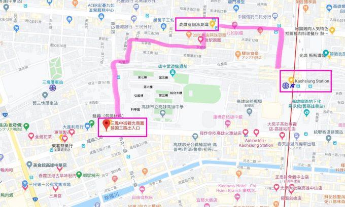 高雄駅周辺地図